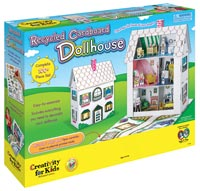 Recycled cardboard dollhouse